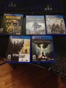 6 PS4 games, $20 each