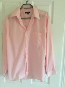 Men's BRUTTINI Pink Long Sleeve Dress Shirt London Ontario image 2