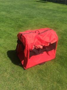 Large dog kennel and tent