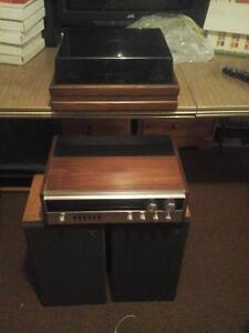 Stereo w/ speakers and record player