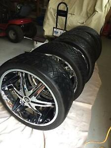 Dub Big Shoe rims and nitto 420 tires (lo profile) Rare!
