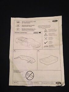 Mustang Convertible top dust cover