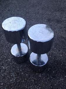 2 x 45lbs York Dumbells
