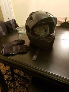 Small Icon Helmet and Olympia Gloves