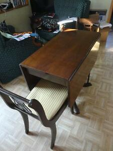 Antique Duncan Phyfe Table & Matching Chairs (2)