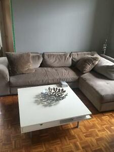 Sectional Couch in Excellent Condition. Less than a year old