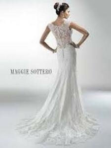 A Beautiful Maggie Sottero Melanie Wedding Dress for sale.