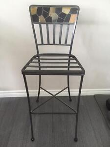 Iron accent chair