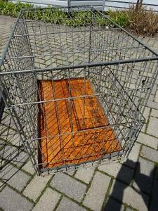 Wire Folding Dog Crate/Cage - Large