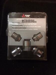 Mitsubishi wheel lock set