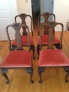 Set of 4 High End Dining Chairs