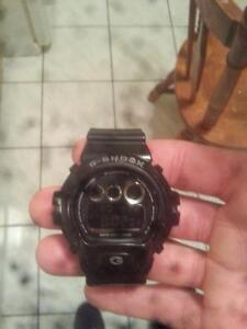 mens black and silver g shock 30