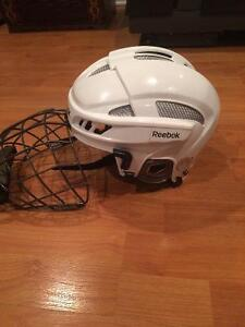 white reebok 11k hockey helmet