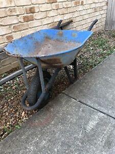 Old rusty herb garden wheel barrow Zillmere Brisbane North East Preview