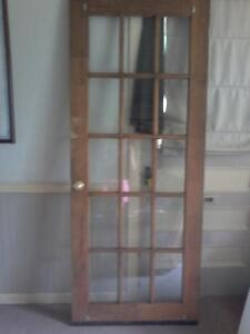 Exterior solid wood French door asking $30.00