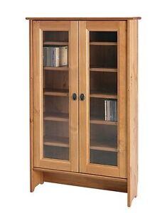 Leksvik glass-door cabinet