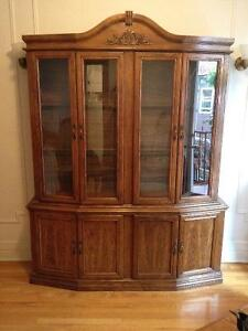 Beautiful antique armoire display cabinet