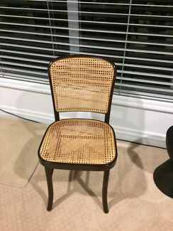 14 bentwood and wicker chairs
