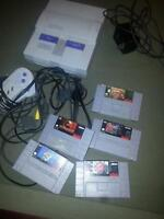 Snes with 5 games.
