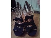 Miss KG black and gold heels size 5