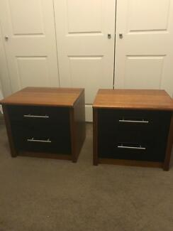 Solid timber bedside tables
