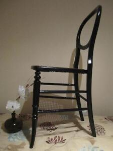 A Victorian black lacquered side chair, Caned seat Kitchener / Waterloo Kitchener Area image 3