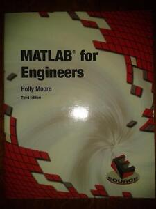 MATLAB for Engineers by Holly Moore 3rd Edition Windsor Region Ontario image 1