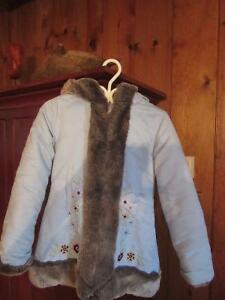 Manteau long hiver - fille small (8-10 ans)