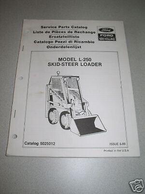 New Holland L250 L-250 Skid Steer Loader Parts Manual