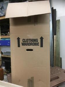Wardrober box with hangers