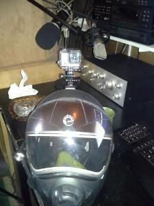 Bombardier Helmet and Gopro Silver