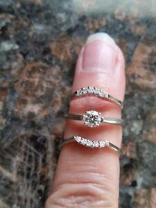Set of 3 wedding rings
