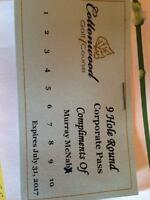 5 rounds of 18 holes at Cottonwood
