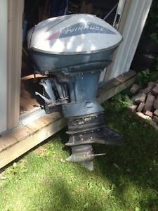 1965 Evinrude 60 HP Sport Four Motor London Ontario image 1