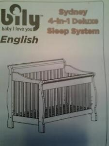 Bily 4 in 1 bed for sale