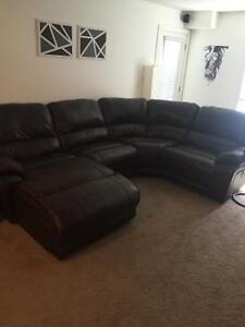 Cindy Crawford Macro Genuine Leather sectional