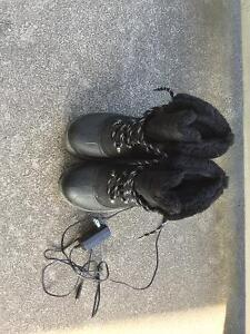 Rechargeable winter boots.