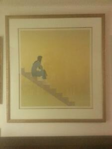 "W. E. Barnet "" STAIRWAY TO THE SEA "" 1982 / 1984 Lithograph"