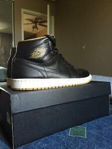 Air Jordan 1s Used Black and Gold size 10.5