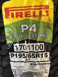 4 Brand New 195 65 15 Pirelli P4 Four Seasons tires. *** WallToWallTires.com ***