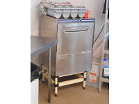 Commercial Dishwasher, Stand and Plate & Crockery Racks