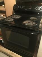 Black stove 2 years old barely used