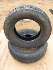 Moto Master used tire pair 215/70r15 reference 6