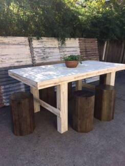 Large White Rustic Dining Tables