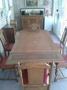 Antique Dining Room Set with Buffet