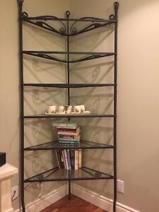 Rod iron shelving unit reduced to sell!