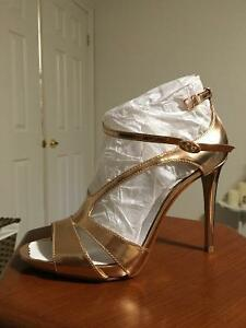 Brand new Rose gold heels