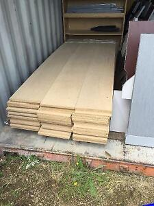 Miscellaneous particle board pieces