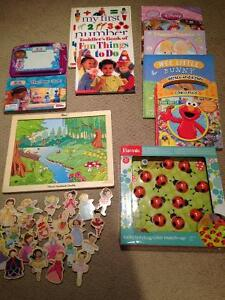 Assorted books and games