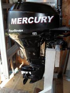 MOTEUR HORS BORD MERCURY 15  HP-4 TEMPS-2007-PIED COURT